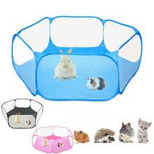 Nowa klatka dla zwierzęcia namiot kojec oddychające zwierzęta chomik Puppy Cat Rabbit składane ogrodzenie małe zwierzęta klatki Solid Clear 2020