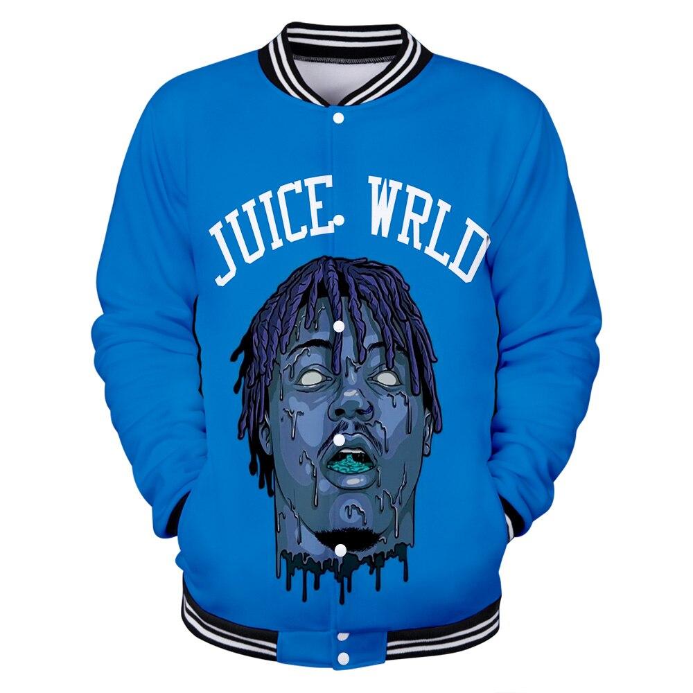 Salute to Rapper Juice WRLD Hip hop emo trap Lucid Dreams 3D print Baseball uniform Men/Women Harajuku Baseball Jackets clothes