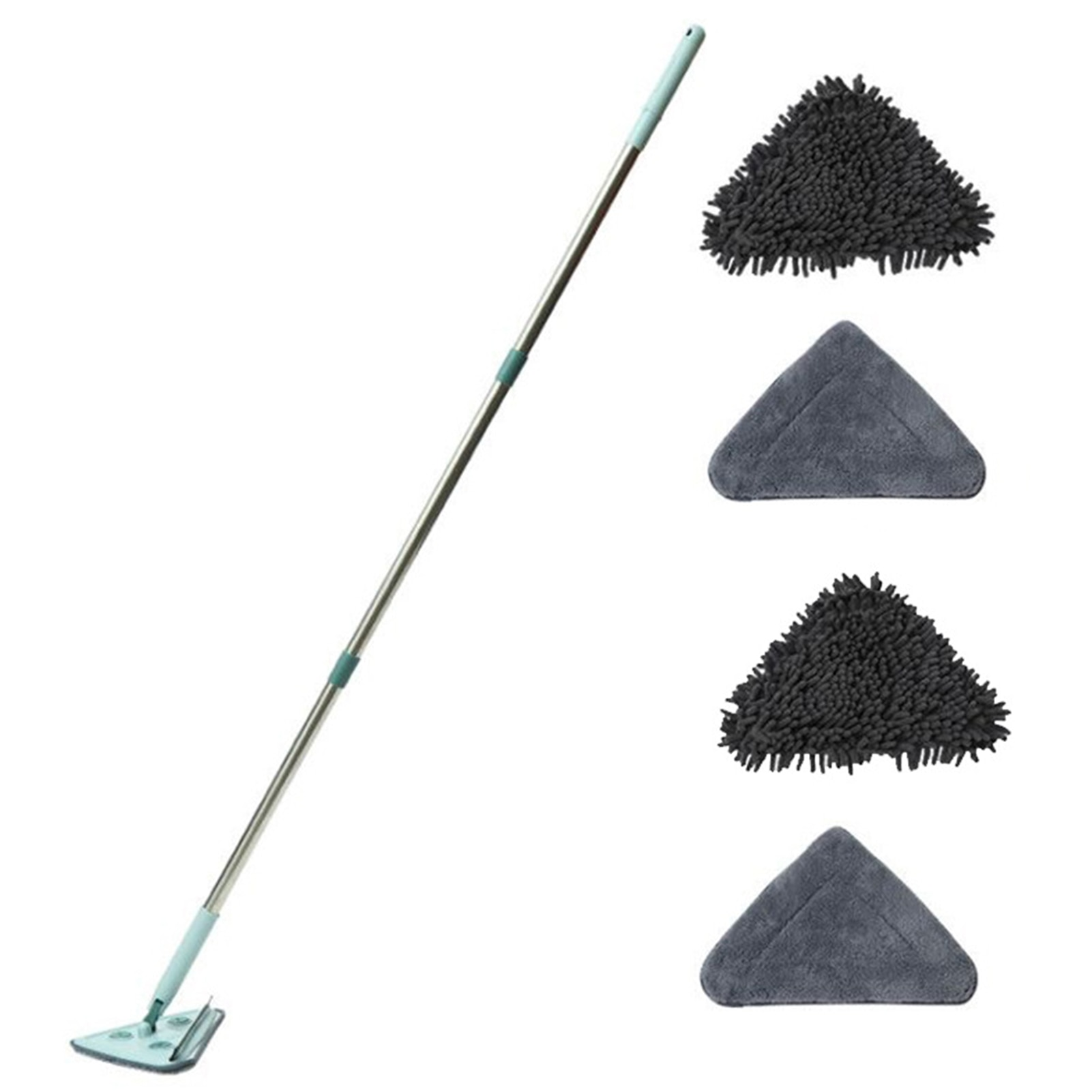 метелка для пыли boomjoy dust mop 68 86 см Window Car Adjustable Cleaning Mop With Replacement Cloth Multifunctional Triangle Mop Lazy Dust Mop Household Dusting Mop