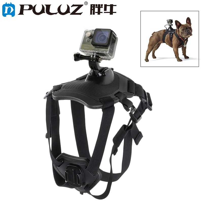 PULUZ Gopro dog harness black accessories gopro pet for hero 5