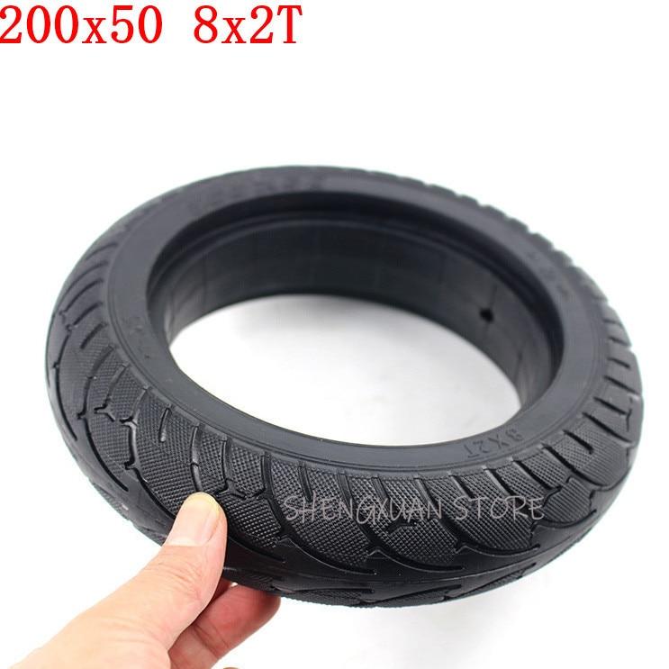 Neumático sólido trasero para patinete eléctrico, rueda posterior de 200x 50, 8...