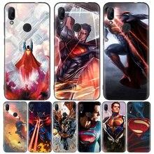Superman DC Comics Black Cover Phone Case for Xiaomi Redmi Note 8T 10 9S 8 7 8A 7A 6A Mi 10 9 8 CC9 K20 Pro Lite Coque