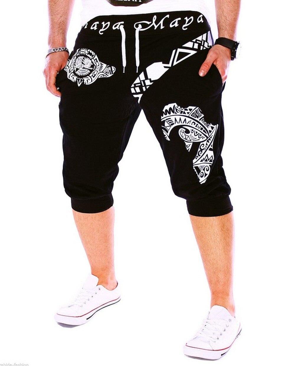 Фото - ZOGAA Men Summer Casual Slim Harlan Shorts Fashion Italian Print Design Fitness Cropped shortsCotton Tights Sports Casual Shorts italian interior design