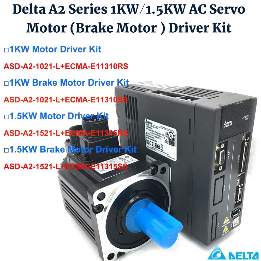 1KW/1.5KW دلتا A2 130 مللي متر محرك سيرفو يعمل بالتيار المتردد سائق كيت ASD-A2-1521-L ، ASD-A2-1021-L ، ECMA-E11310RS/E11310SS ، ECMA-E11315RS/E11315SS