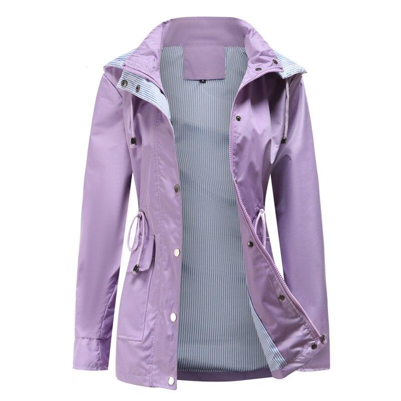 سترة واقية سترة النساء 2021 جديد ربيع الخريف الملابس الموضة سستة جيوب خندق معطف الإناث ملابس خارجية غير رسمية مقاوم للماء