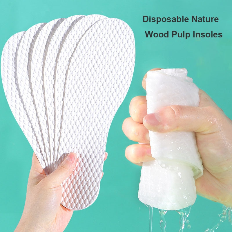 sweat absorbent breathable solid insoles unisex non woven fabric white insoles comfortable soft disposable sanitary insoles 10 pairs Disposable  Insoles nature wood pulp  Insoles breathable  sweat white color comfortable shoe Pad for Men and Women