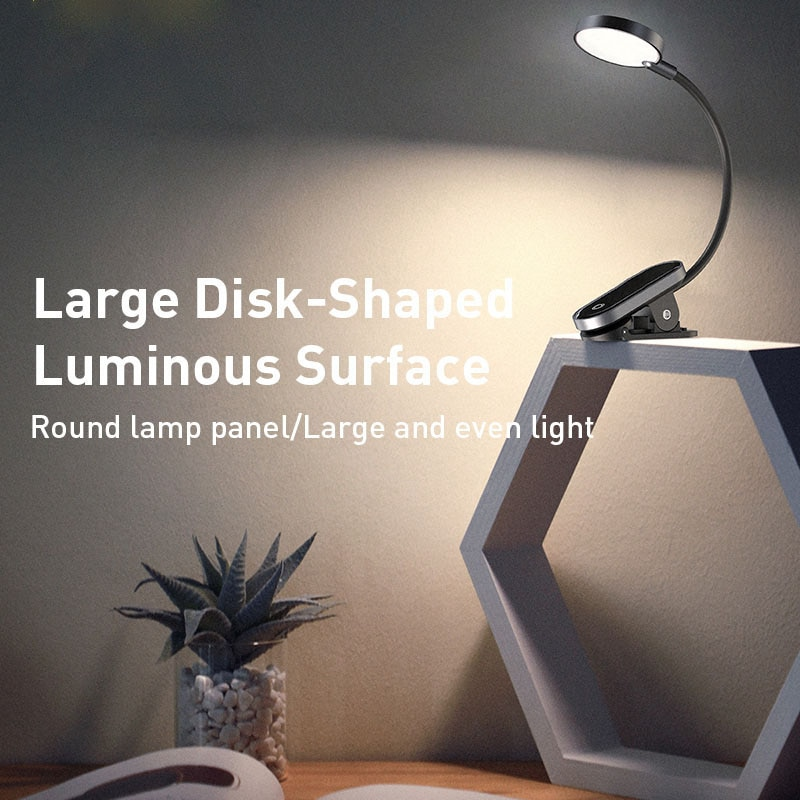 usb power clip holder led book light desk lamp 1w flexible led reading book lamp switch on off table lamp for bedroom study room Mini Clip-On Desk Flexible Lamp Light Book Light 5V 3W ABS Led USB Rechargeable Night Ligh Reading Lamp for Travel Bedroom Book