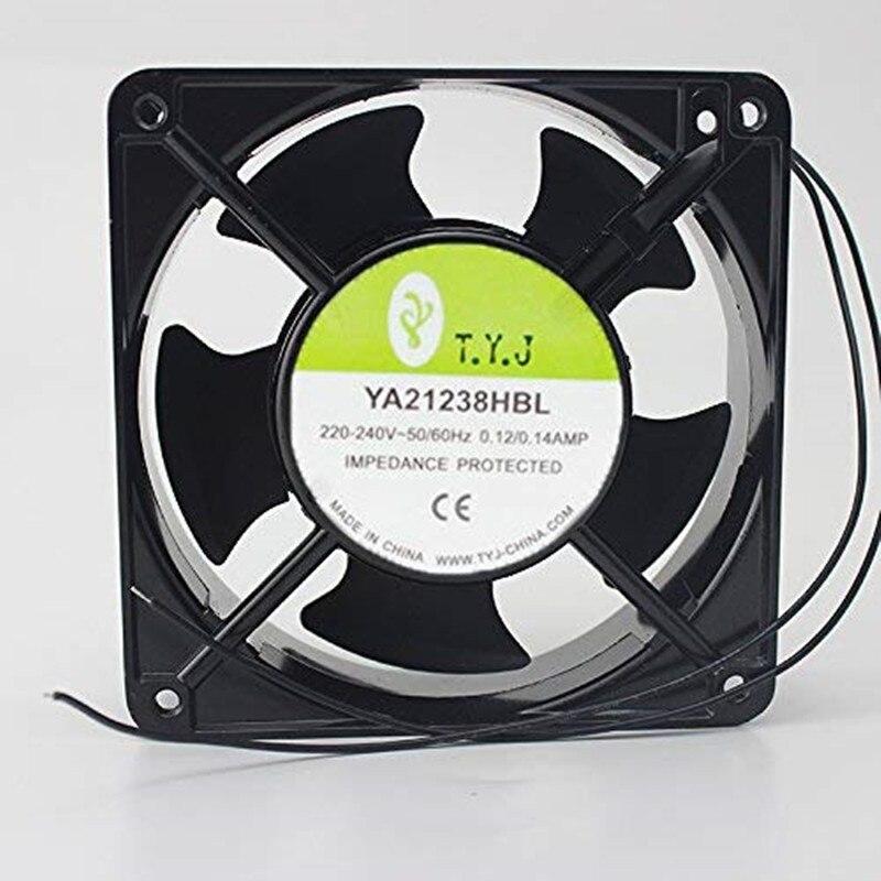 YA21238HBL 220V 12 سنتيمتر 12038 LED عرض خاص التبريد مروحة 6 أشهر الضمان