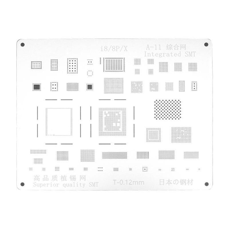 2d a11 ic chip bga reballing stencil kit modelo de solda para iphone 8/8plus/x placa-mãe