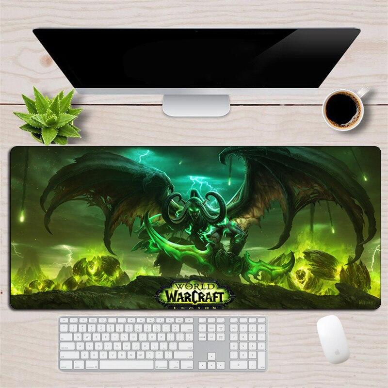Alfombrilla de ratón grande para juegos de Horde Alliance XL Otaku Borde de bloqueo de goma Warcraft, alfombrilla para ratón para Gamer, alfombrilla para teclado para ordenador