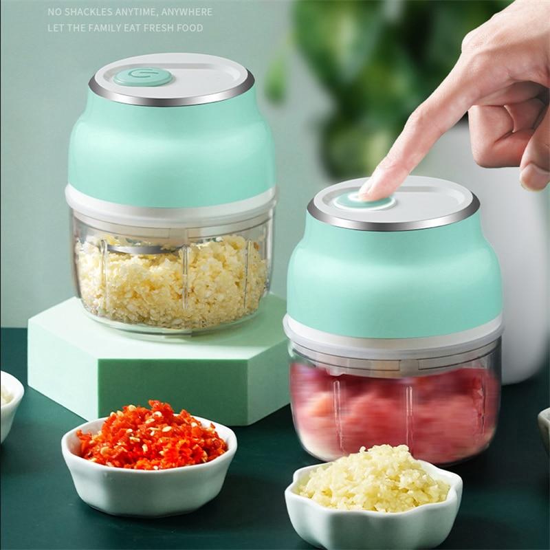 USB Electric Mini Food Garlic Vegetable Chopper Grinder Crusher Press for Nut Meat Fruit Onion Food Mixer Processor Meat Grinder