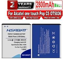 Hsabat 2800 Mah TLiB5AF Batterij Voor Alcatel One Touch Pop C5 OT5036 OT5036D OT-5036 OT-5036D Tcl S800 S710 997D OT-997 OT997 5037