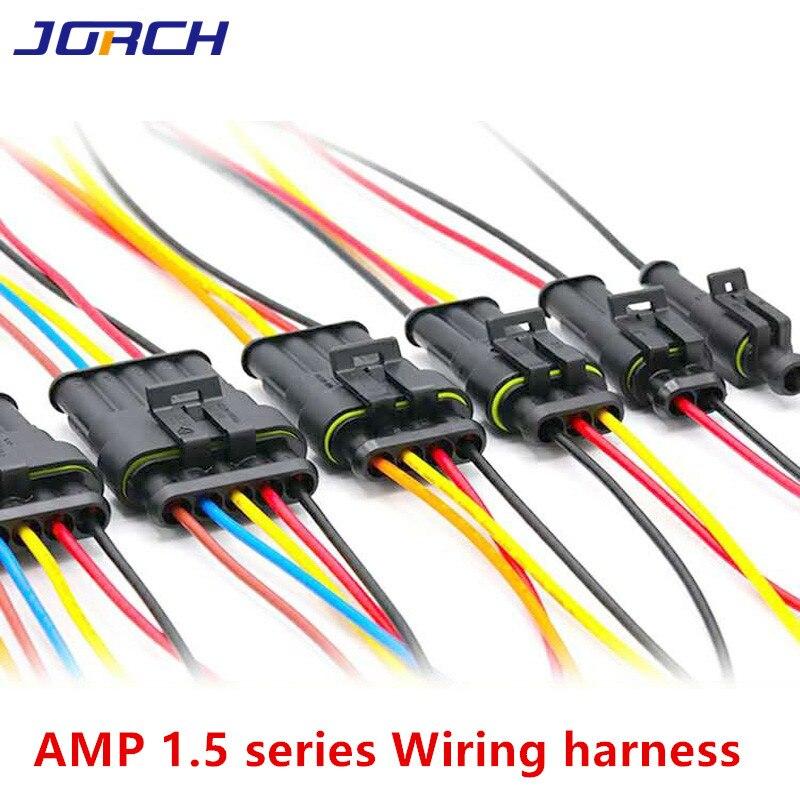 1 jeu dampe 1P 2P 3P 4P 5P 6P   Connecteur électrique étanche pour automobile, prise mâle féminine avec harnais de câbles de fil pour moto