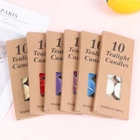 10pcsbox romantic aromatherapy tea wax candle birthday wedding party candle candlelight color candle