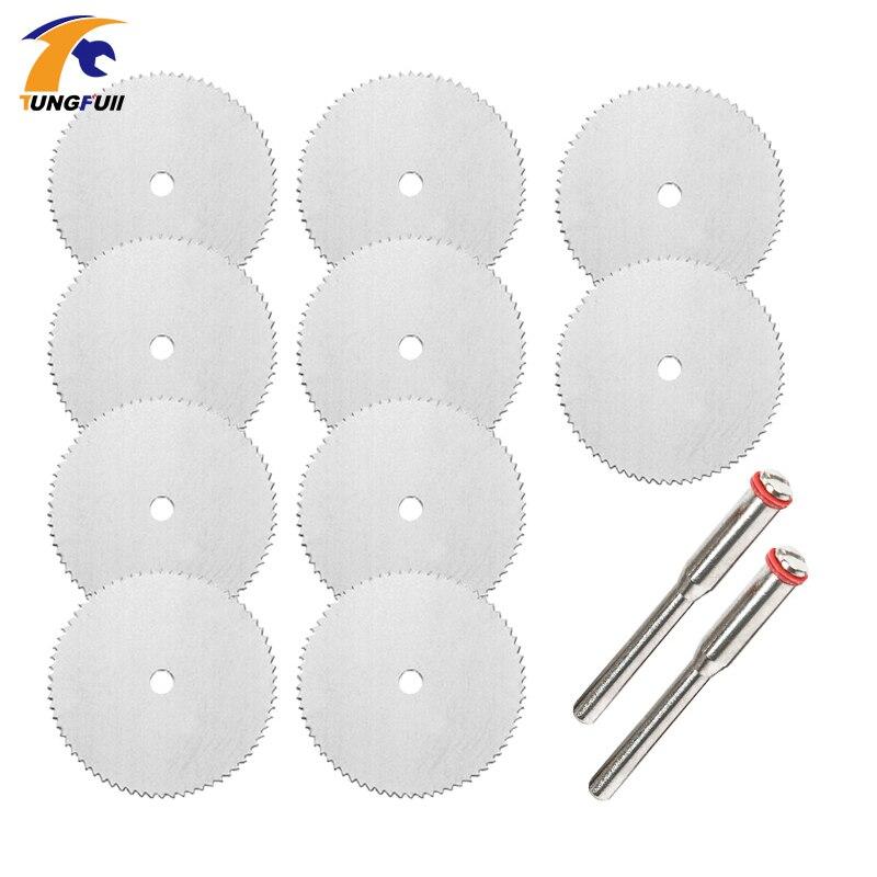Dutoofree lâmina de serra para ferramentas dremel ferramenta rotativa discos de corte dremel 10 pçs 22 25 32mm acessórios broca elétrica