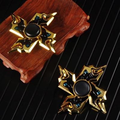 Yooap Hand Spinner Fidget Heptagonal Electroplate Hybrid Zinc Alloy Metal Fidget Metal Bearing Edc Finger Relieve Stress Gift enlarge