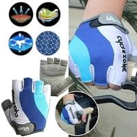 bicycle gloves microfiber bike gloves non slip breat gym outdoor gloves lightweight anti skid shock absorbing fitness gloves