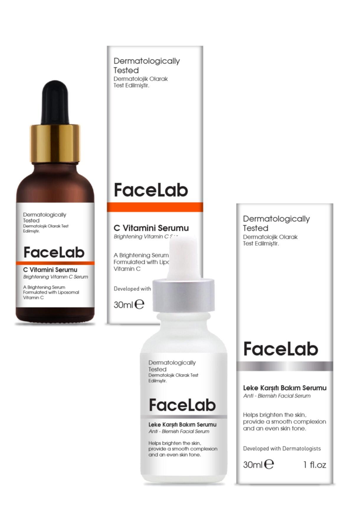 FaceLab Vitamin C Serum + Anti-Blemish Serum Set of 2