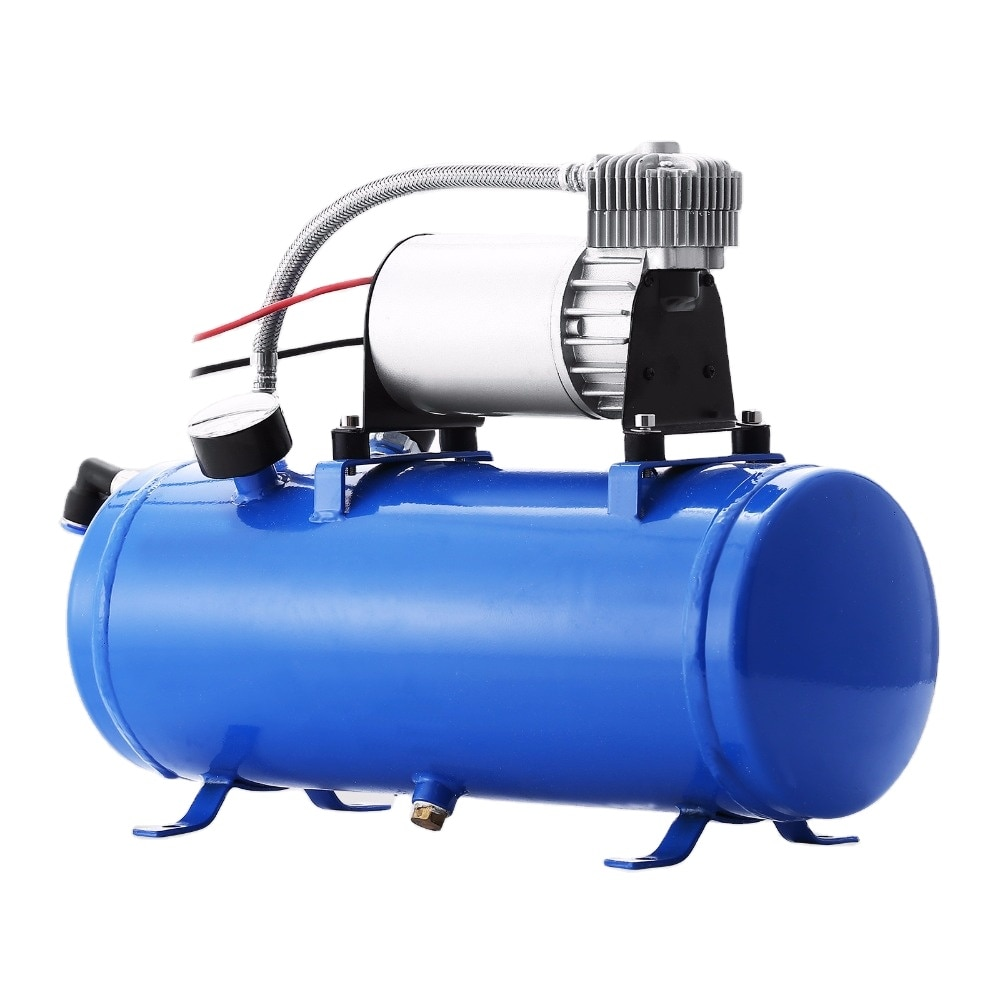 150 PSI DC 12V Air Compressor with 6 Liter Tank for Train Horns Motorhome Tires
