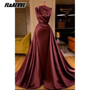 2021 Brown Evening Dress Long A Line Sleeveless Corset Lace Up Floor Length Evening Prom Party Gowns