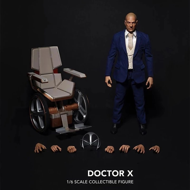 1/6 Male Full Set Doctor X Patrick Stewart Figure Model 12'' Action Body For Collection In Stock