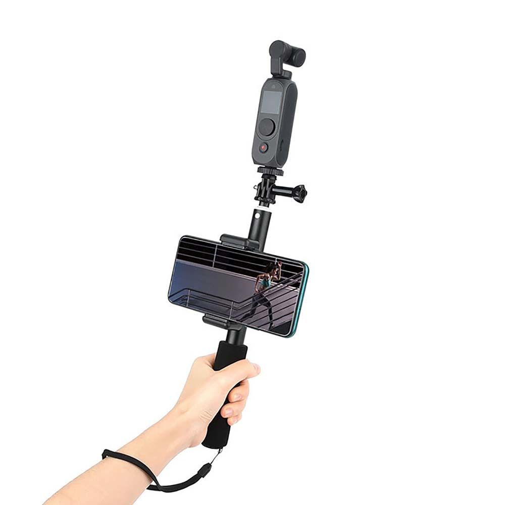 1Set Selfie Stick Extension Rod Lock Phone Clip Bracket Holder Stand for FIMI PALM2 Handheld Gimbal Camera Expansion Accessories