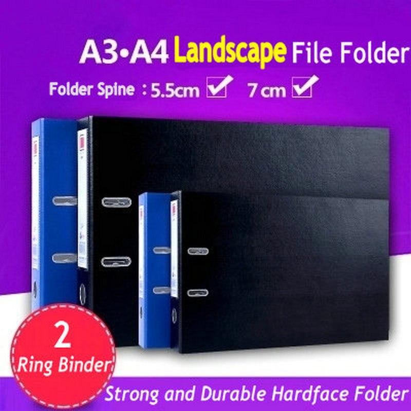 Carpeta de anillas con paisaje 2, organizador de documentos A4 A3, bolsa transparente, bolsa de documentos protectora con hoja A4 A3