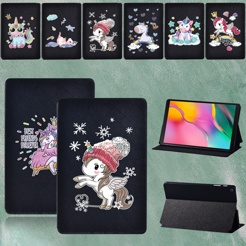 For Samsung Galaxy Tab A 8.0 Inch 2019 SM T290 T295 Shockproof Cartoon Pictures PU Leather Tablet Cover+pen