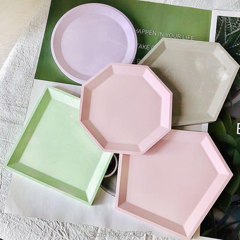 9 форм, лоток для цемента, силиконовая форма, геометрическая форма, подходит для изготовления бетонной глины, гипса, горшка, поддон для свечей, форма