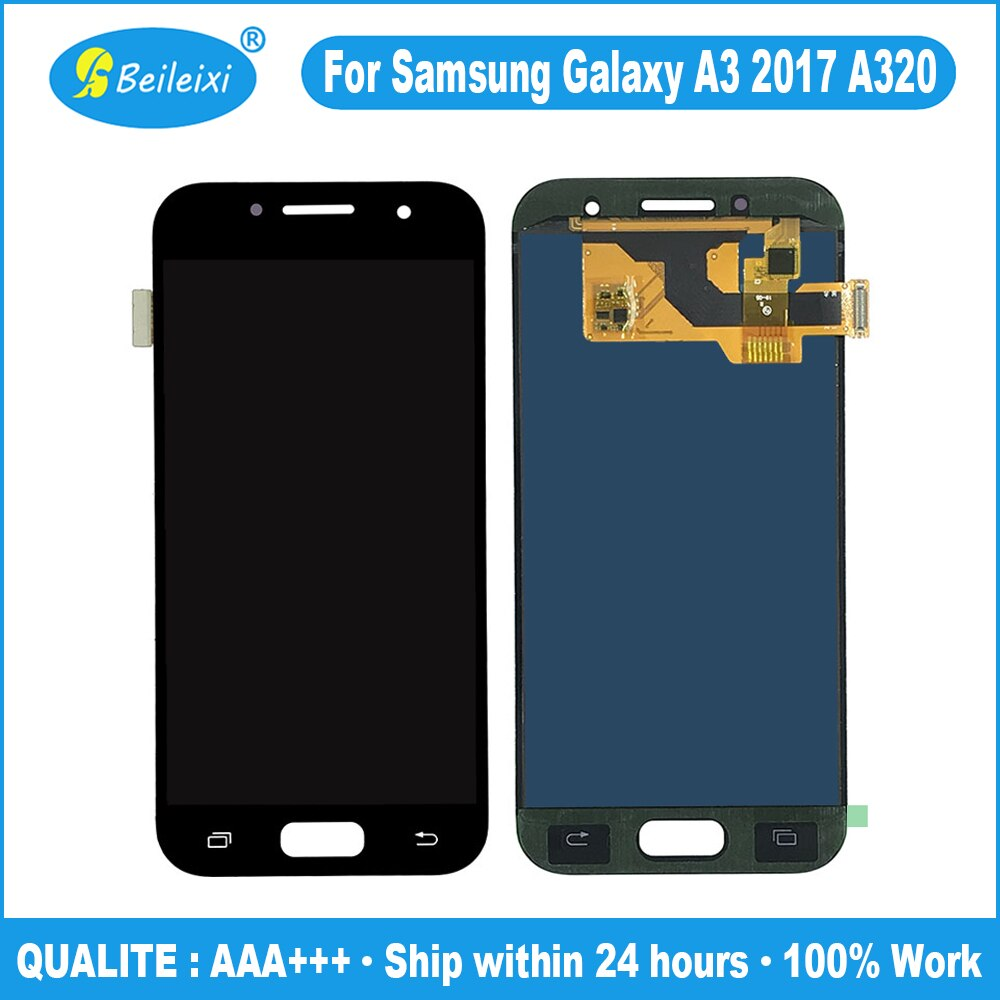 TFT brillo ajustable pantalla LCD digitalizador pantalla táctil montaje para Samsung Galaxy A3 2017 LCD A320 SM-A320F A320M A320Y