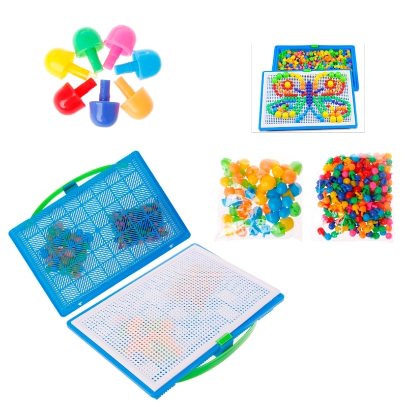 Niños uñas De Seta Peg puzle rompecabezas creativo mosaico tablero