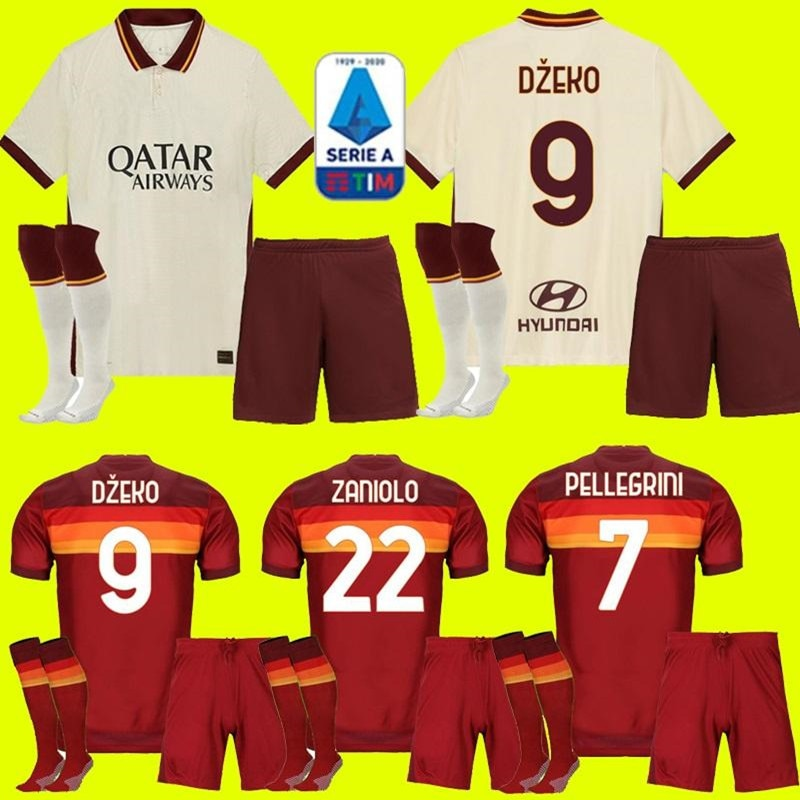 2020 camisa masculina camisa de futbol camisa 20 21 dzeko totti crianças kit camisas