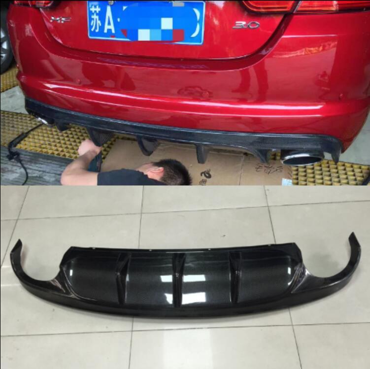 ABS/Carbon Fiber Rear Bumper Lip, Auto Car Diffuser Fits For Jaguar XF 2012 2013 2014 2015