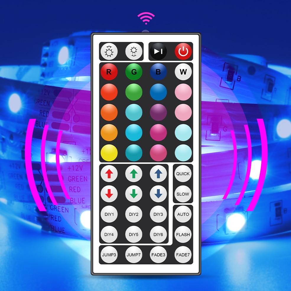 RGB LED Strip Light 5050 Flexible Ribbon LED Light Strip DC12V 5M 10M 20M Remote Full Kit For Living Room / Bed Room / Kitchen