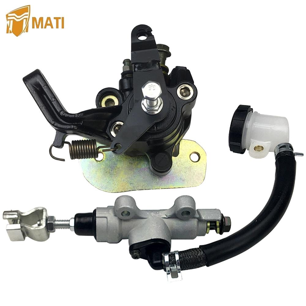 For Honda ATV Sportrax 400 TRX400EX TRX400X TRX 400EX 400X A AC Rear Brake Caliper Brake Master Cylinder with Pads