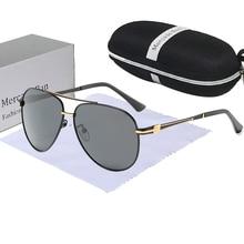 Brand Designer UV400 Sunglasses Polarized Men high quality Driving Glasses Eyewear Metal Rimless Ret
