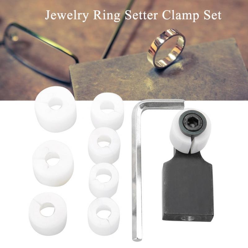 Anillo de joyería de Herramienta de procesamiento Setter abrazadera canal ajuste de piedra Kit de herramienta de anillo Sieraden Verwerking herramientas Herramientas de joyería para joyeros