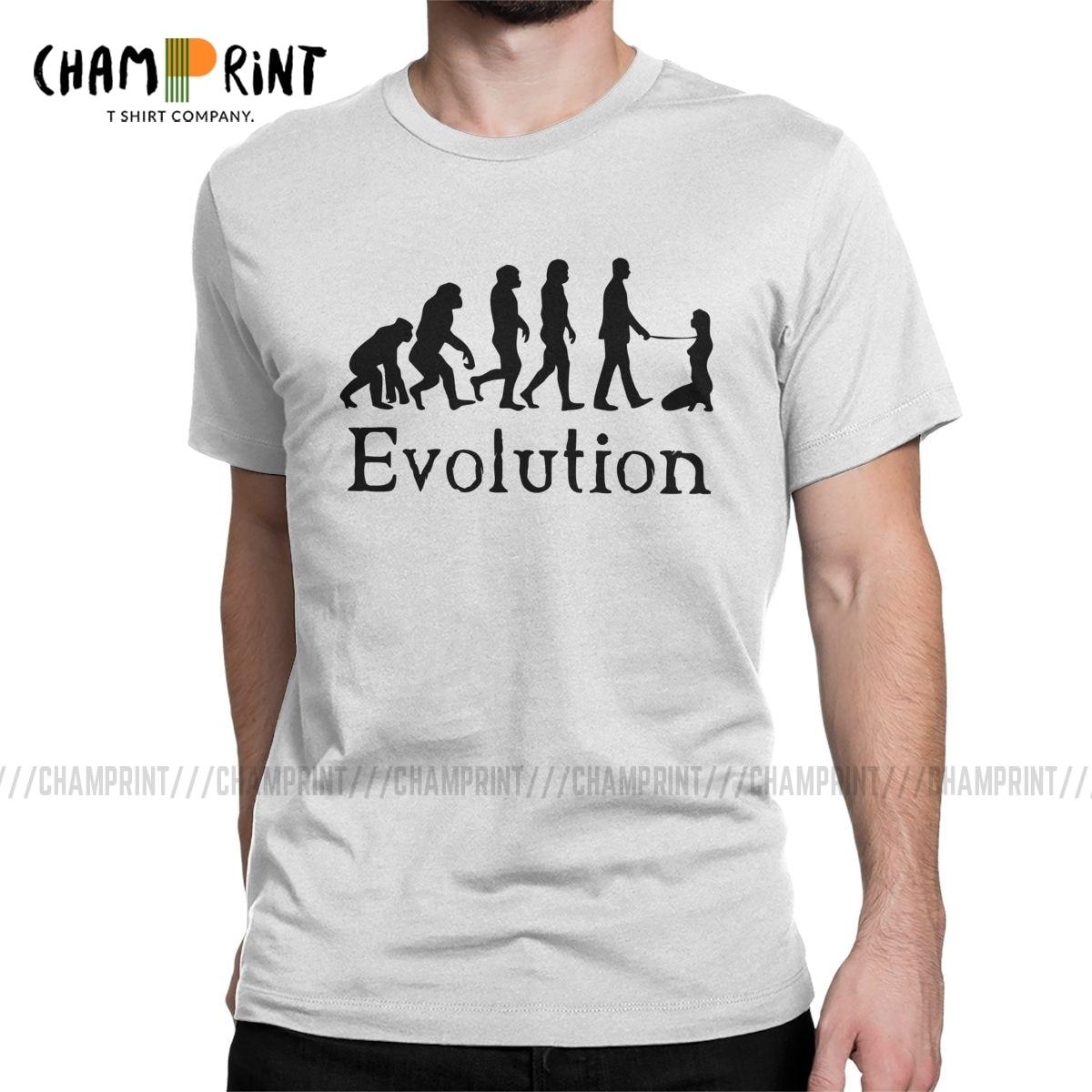 Мужская футболка с круглым вырезом и принтом, БДСМ, Доминант, эволюция, удавка, удавка