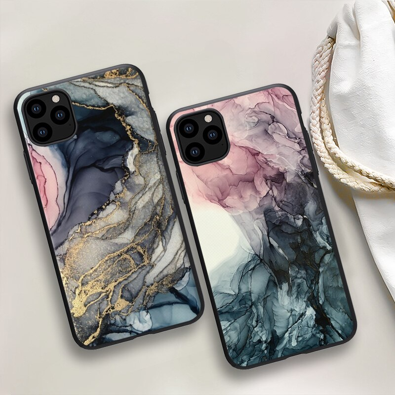 TPU Paint Case for iphone 12 11 Pro max mini Anti-Fall soft Case for iphone 7 8 6 6S 5 5S Plus SE 20