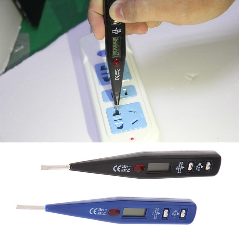 Medidor de voltaje Digital AC DC 12-250V, probador eléctrico, bolígrafo Detector de inductancia
