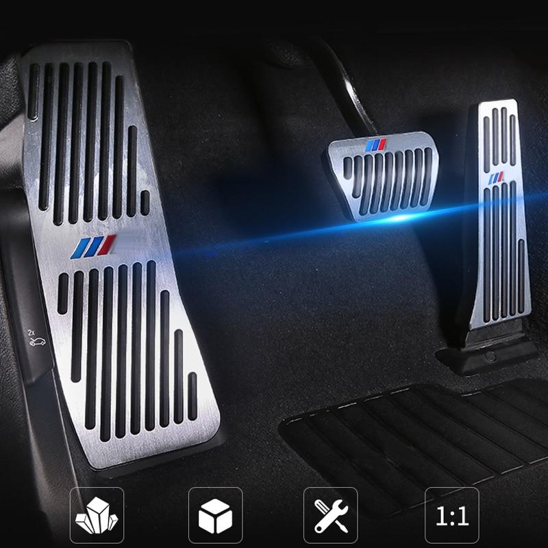 Car Interior Aluminium Alloy Punch-free Accelerator Brake Pedals For X3 X4 Z4 F25 F26 E89 G01 G02 Modification Accessories