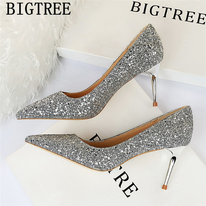 Zapatos de tacón superalto, Drag Queen, zapatos de tacón blanco con purpurina, zapatos de tacón para fetiche, zapatos de vestir para Mujer, Tacones sexis para Mujer