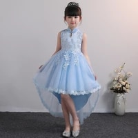 girls graduation tail pageant long dress wedding gown party princess dress for costume children pageant long 3 12 years
