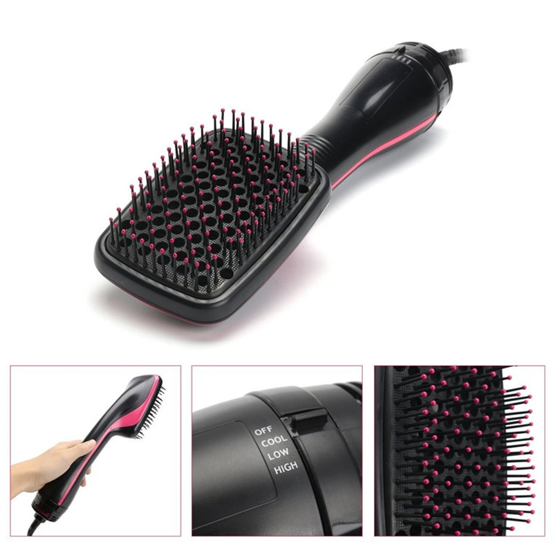 Professional Hair Dryer Brush 2 IN 1 Electric Hair Blow Dryer Brush Hot Air Hair Curls Comb Salon Hair Styler Comb Dropshipping enlarge