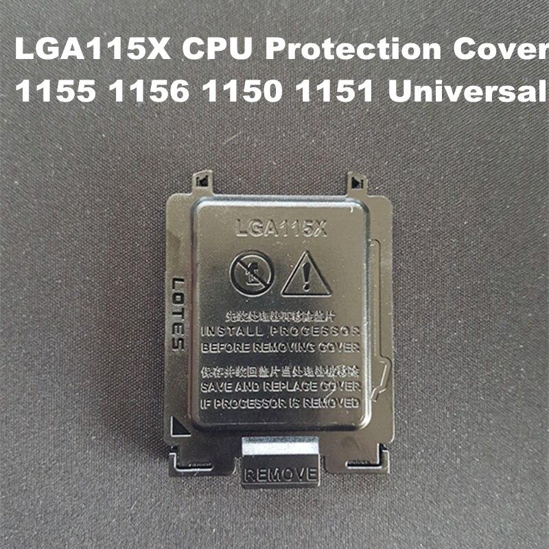 100 قطعة/الوحدة اللوحة وحدة المعالجة المركزية المقبس حماية قذيفة غطاء أسود وحدة المعالجة المركزية العالمي حماية دبوس غطاء ل LGA 1155/1156/1151/1150