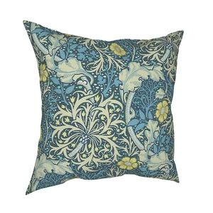 William Morris Seaweed Pillow Cover Decoration Floral Vintage Victorian Cushion Cover Throw Pillow for Living Room Polyester