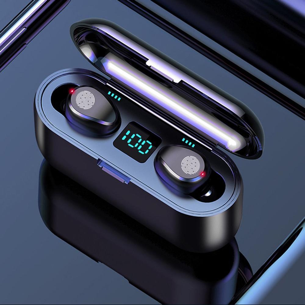 Neue F9 Drahtlose Kopfhörer Bluetooth 5,0 Kopfhörer TWS Touch Control Mini In-ear Sport Lauf Headset Unterstützung iOS/android Telefon