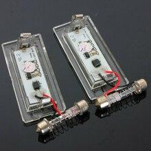 Jeu de lumière de plaque dimmatriculation sans erreur pour BMW X5 E53 X3 E83 03-09 Super lumineux