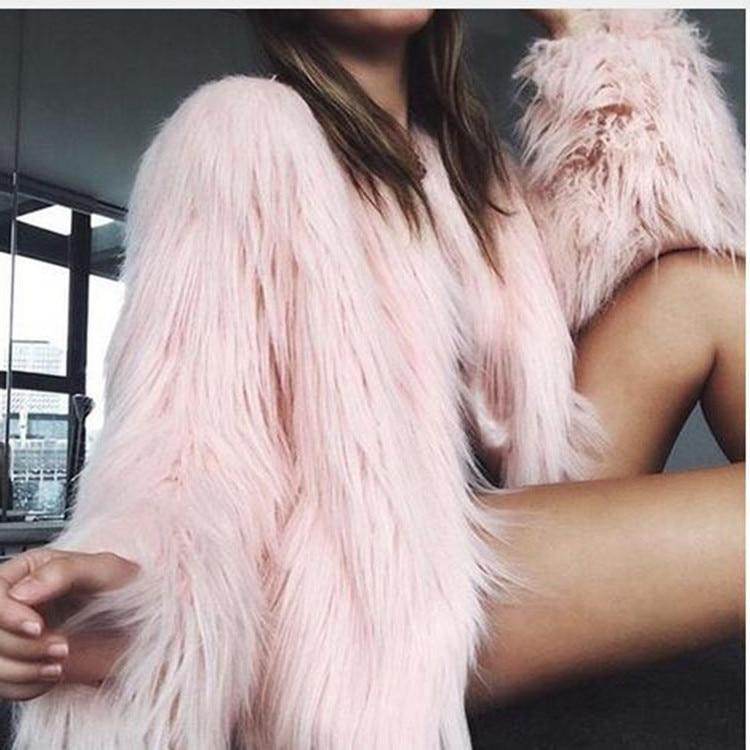 jacket warm artificial fur Winter artificial fur fur woman thicken coat coat fur фото