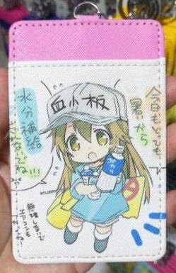 1 pcs celular no trabalho moda anime titular do cartão de crédito dos desenhos animados do plutônio sacos de moedas cartões de ônibus chaveiro meninas presentes novo